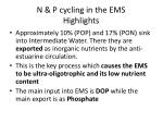 n p cycling in the ems highlights1