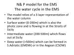 n p model for the ems the water cycle in the ems