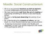 moodle social constructionism