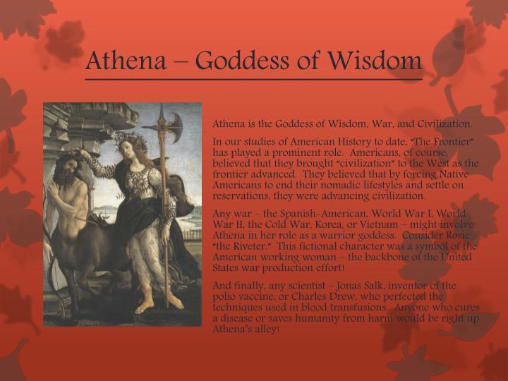 Athena – Goddess of Wisdom