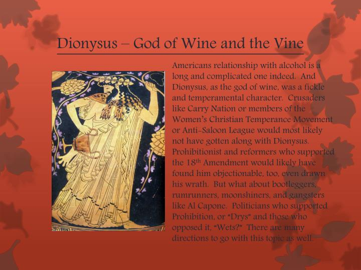 Dionysus – God of Wine and the Vine