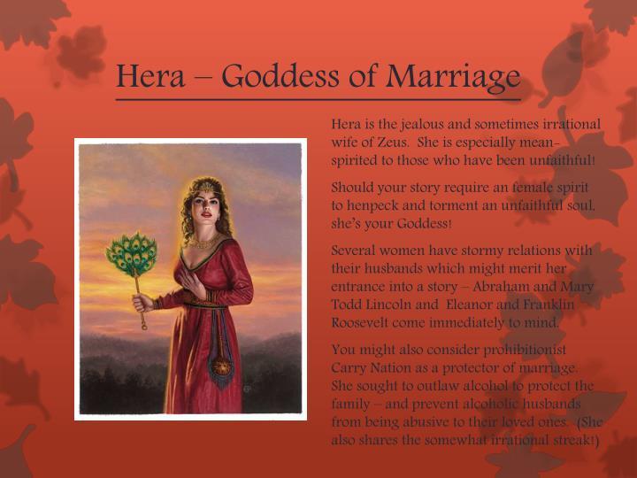 Hera – Goddess of Marriage