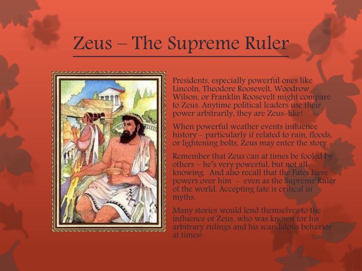 Zeus – The Supreme Ruler
