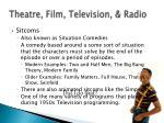 theatre film television radio