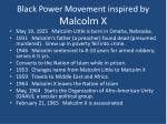 black power movement inspired by malcolm x