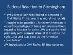 federal reaction to birmingham