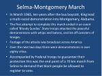 selma montgomery march
