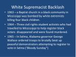 white supremacist backlash