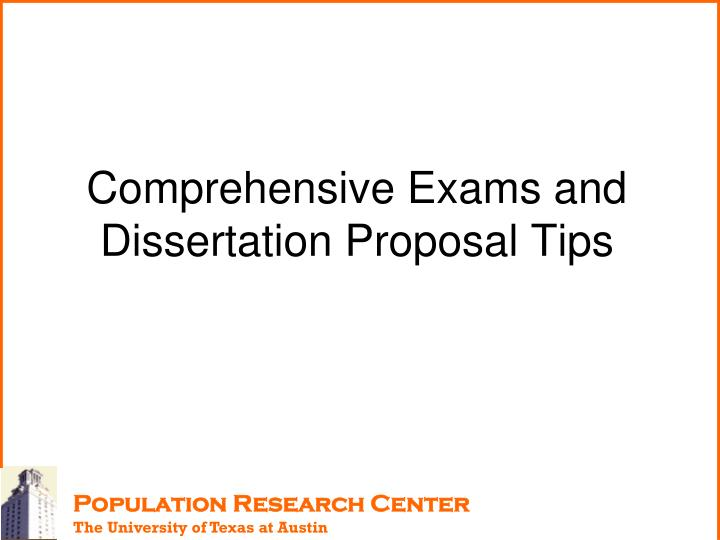 comprehensive exams and dissertation proposal tips n.