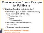 comprehensive exams example for fall exams1