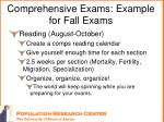 comprehensive exams example for fall exams2