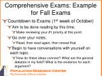 comprehensive exams example for fall exams3