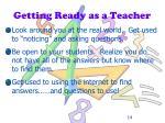 getting ready as a teacher