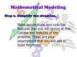 mathematical modeling1
