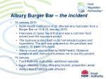 albury burger bar the incident