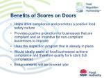 benefits of scores on doors