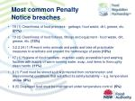 most common penalty notice b reaches