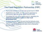 the food regulation partnership frp