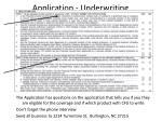 application underwriting