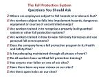 the fall protection system questions you should ask