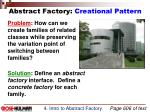 abstract factory creational pattern