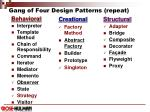 gang of four design patterns repeat