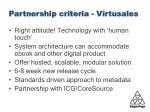 partnership criteria virtusales