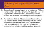 efficiency in long run equilibrium cont