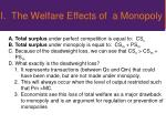 i the welfare effects of a monopoly