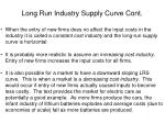 long run industry supply curve cont