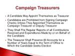 campaign treasurers