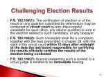 challenging election results