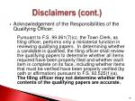 disclaimers cont1