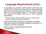language requirements cont