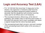 logic and accuracy test l a