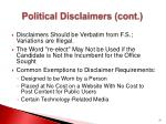 political disclaimers cont