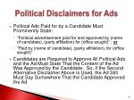 political disclaimers for ads