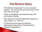 poll workers salary