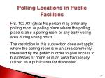 polling locations in public facilities