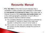 recounts manual