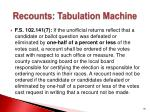 recounts tabulation machine