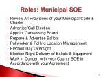 roles municipal soe