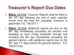 treasurer s report due dates