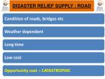 disaster relief supply road