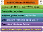 high ultra violet radiation