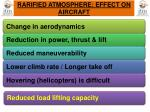rarified atmosphere effect on aircraft