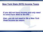 new york state nys income taxes