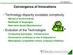 convergence of innovations1