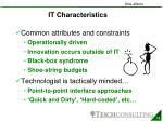 it characteristics