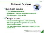 risks and cautions